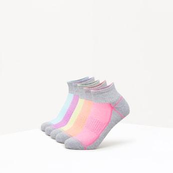Set of 5 - Textured Ankle Length Socks