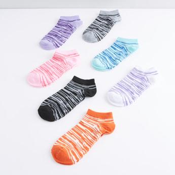 Set of 7 - Striped Ankle Length Socks