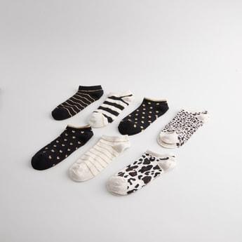 Set of 7 - Printed Ankle Length Socks