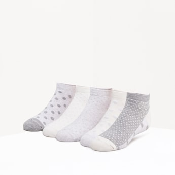 Set of 5 Ankle Length Socks with Elasticated Hems