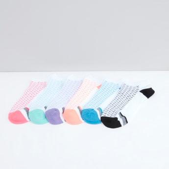 Set of 6 - Printed Ankle Length Sports Socks