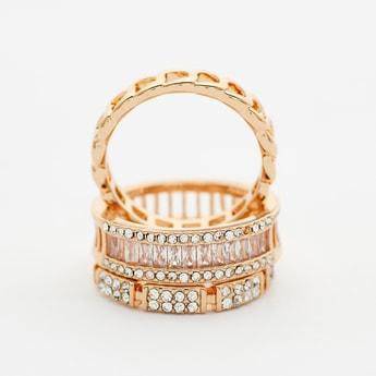 Set of 3 - Studded Finger Ring