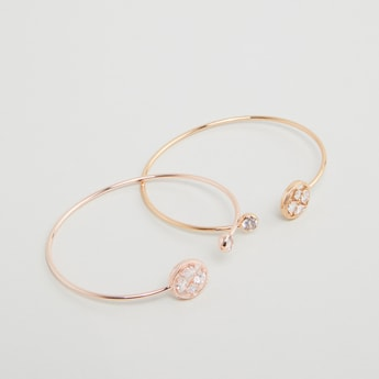 Set of 2 - Studded Cuff Bangles