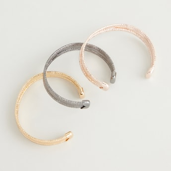 Set of 3 - Textured Cuff Earrings