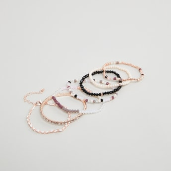 Set of 7 - Embellished Beaded Bracelets