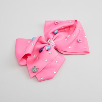 Embellished Bow Shaped Hair Clip