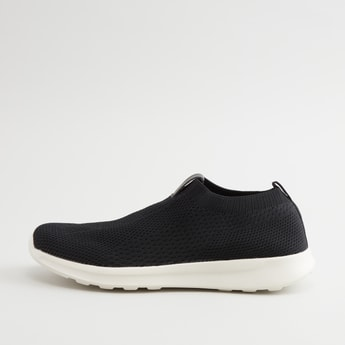 Textured Slip On Shoes with Pull Tab