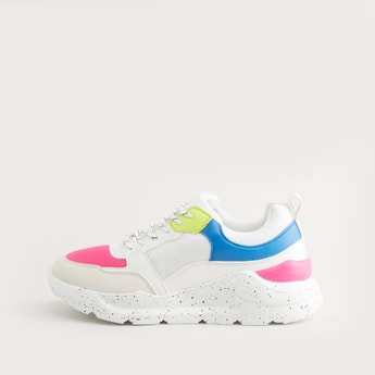 Colourblock Slip-On Sports Shoes
