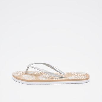 Printed Thong Style Flip Flops