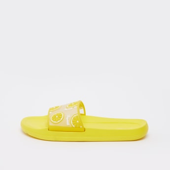 Embossed Slip On Slide Slippers