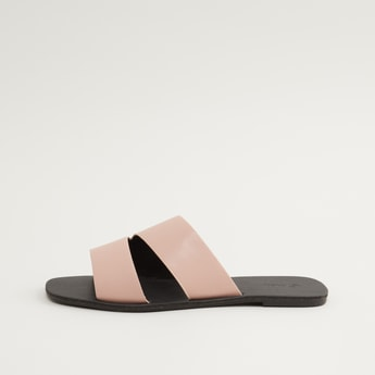 Dual Strap Slip On Sandals