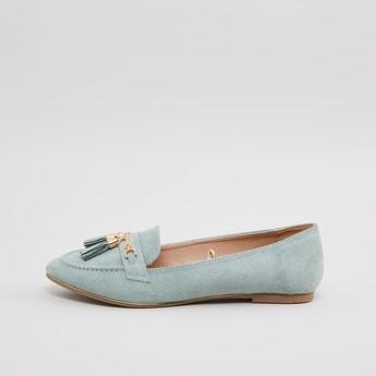 Tasseled Slip On Loafers