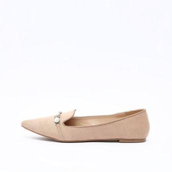 Embellished Slip On Loafers