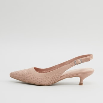 Textured Pumps with Buckle Closure