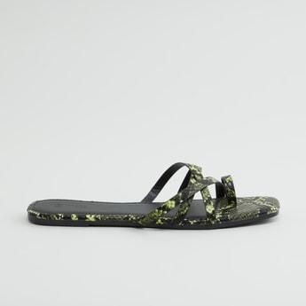 Animal Printed Flat Sandals