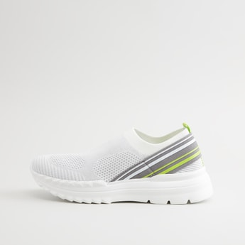 Textured Slip On Sneakers with Pull Tab