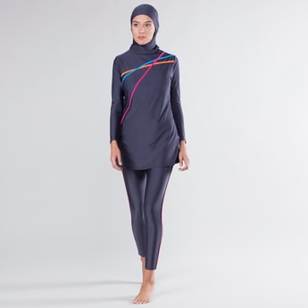 Striped 2-Piece Burkini Set