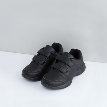 School Sports Shoes with Hook and Loop Closure