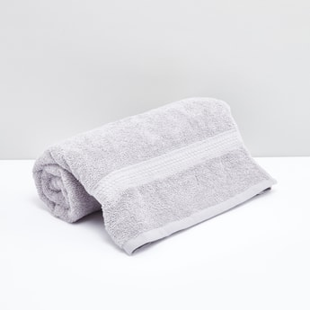 Rectangular Bath Sheet with Plush Detailing