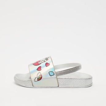 Backstrap Slides with Printed Strap and Textured Footbed