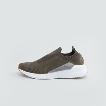 Textured Sneakers with Slip On Closure