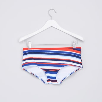 Striped Swimming Bikini Briefs