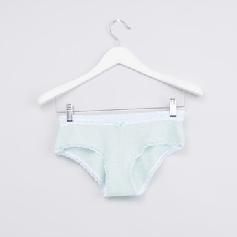 Textured Hipster Briefs with Elasticated Waistband