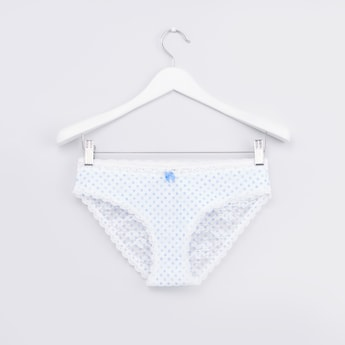 Textured  Hipster  Briefs with Elasticated Closure