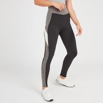 Slim Fit Colour Block Leggings with Elasticised Waistband