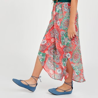 Paisley Print Harem Pants with Elasticised Waistband