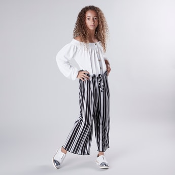Striped Pants with Drawstring