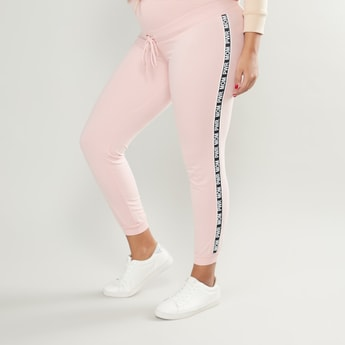 Maternity Joggers with Contrast Stripe Taping