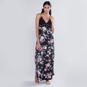 Printed Sleep Dress with Adjustable Straps