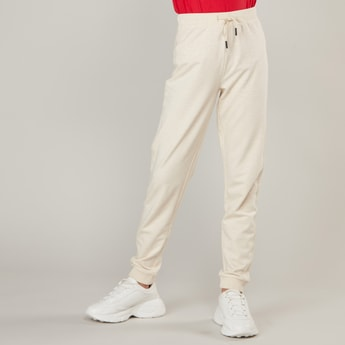Solid Joggers with Drawstring Closure
