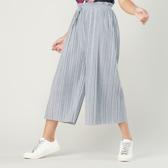 Textured Culottes with Paper Bag Waist