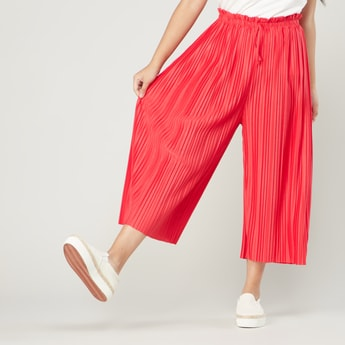 Pleat Detail Culotte with Elasticised Waistband