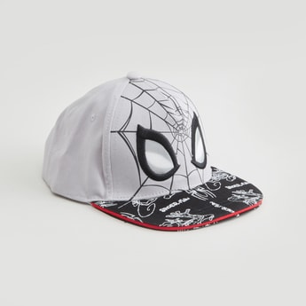 Spider-Man Printed Cap with Snap Closure