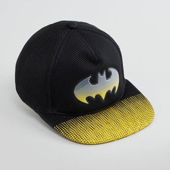 Batman Logo Detail Cap with Snap Button Closure