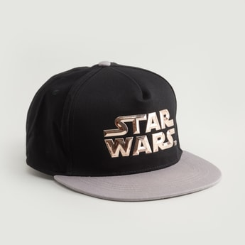 Star Wars Printed Cap with Hook and Loop Closure