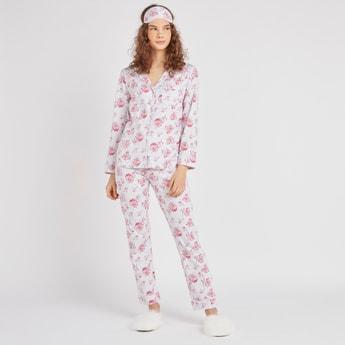 Floral Print 3-Piece Sleepwear Set