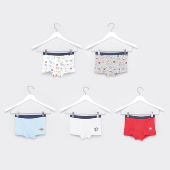Set of 5 - Space Prints Briefs with Elasticised Waistband