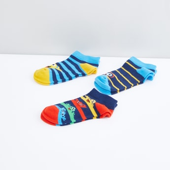 Striped Ankle Length Socks - Set of3