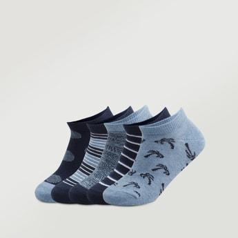 Set of 5 - Printed Ankle Length Socks