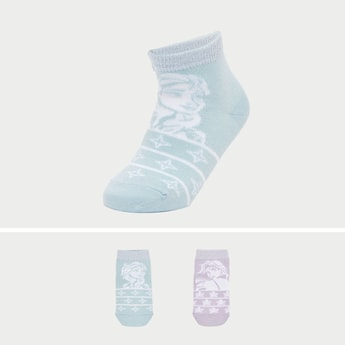 Set of 2 - Frozen Print Socks
