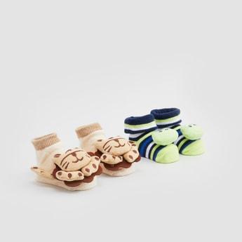 Set of 2 - Applique Detail Socks