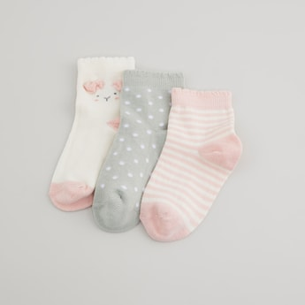 Set of 3 - Printed Crew Length Socks