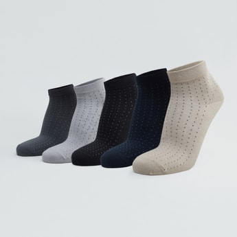 Set of 5 - Textured Ankle Length Socks