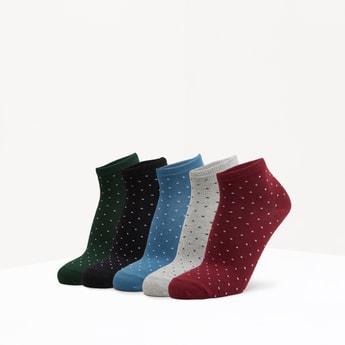 جوارب قطن بطبعات - طقم من 5 أزواج