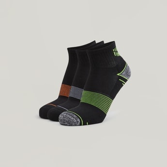 Set of 3 - Assorted Embroidered Ankle Length Socks