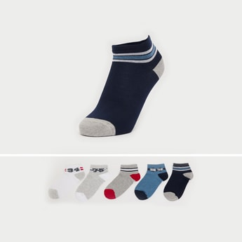 Set of 5 - Ankle Length Socks with Elasticated Hem